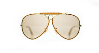 Lunette Ray Ban Aviator Cuir